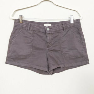 HINGE Brown Taupe Chino Shorts Cotton Stretch 8